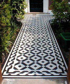 Victorian and Edwardian Geometric and Encaustic Tiled Floors