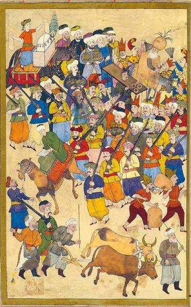 File:Surname 71b.jpgSurname-ı Vehbi'den çeşitli meslek erbabları, 1720, Topkapı Sarayı Müzesi