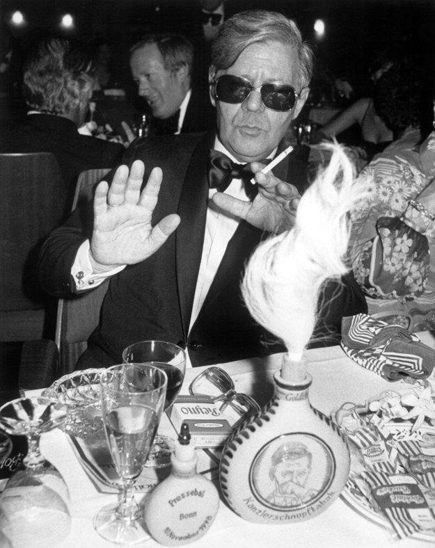 Helmut Schmidt...denn er war der King auf jeder Party.