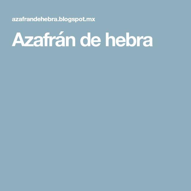 Azafrán de hebra