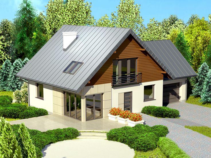 DOM.PL™ - Projekt domu Dom przy Cyprysowej 4 CE - DOM EB2-57 - gotowy projekt domu