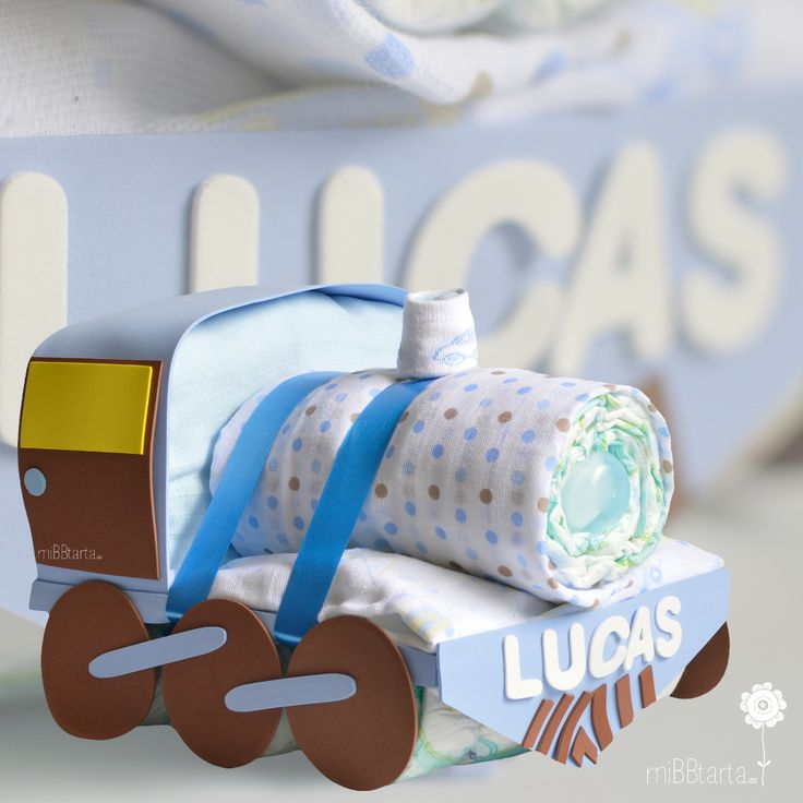 Con este tren de pañales no harán grandes pero es un regalo bonito y útil para sus papis #regalobebe #regalosoriginales #canastilla #tartasdepañales#babyshower #canastillas #tartadepañales #trendepañales