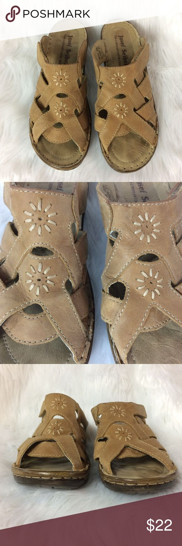Josef Seibel Strappy Leather Comfort Sandals Sz 39 These sweet sandals are in very good condition with lots of life left! Super comfy!  Thank you for looking! Josef Seibel Shoes Sandals