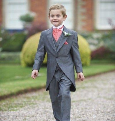 Our boys silver mohair tailcoat, Hinstock. #groom #weddingsuits #greysuit #groomsmen