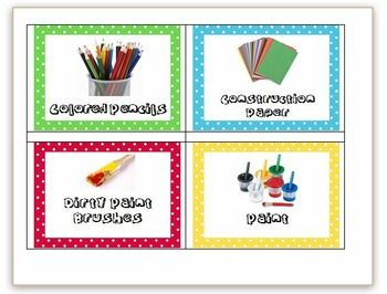 Use these labels to organize your classroom. I use them so that my students know where to return things after using them, to increase environmental...
