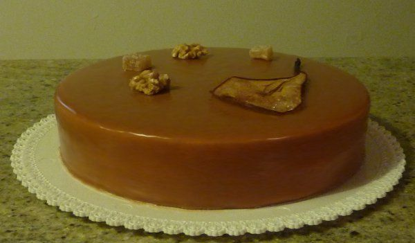 Torta pere zenzero noci caramello