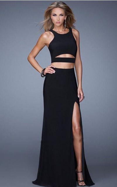 Jersey Jewel Natural Sheath Asymmetrical Formal Dresses abbb1022