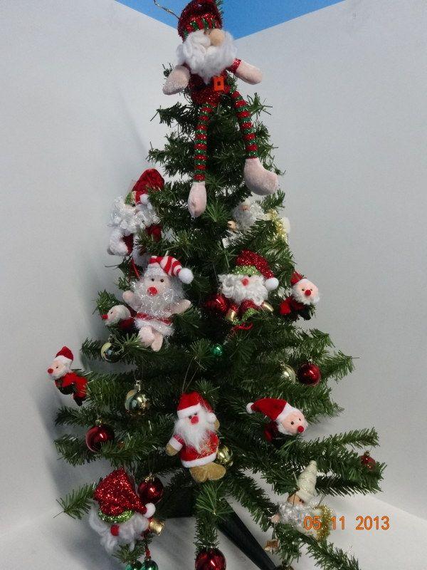 Decora tu rbol de navidad con papa noel y todos sus for Accesorios para decorar en navidad