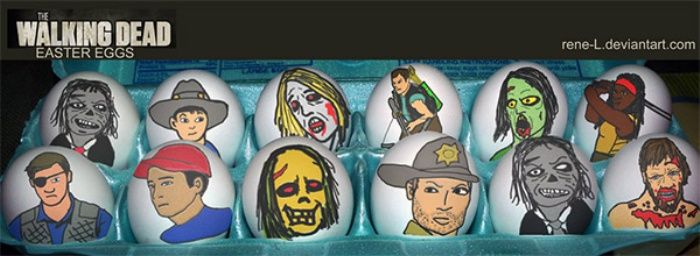 Check Out These Easter-riffic Easter Eggs Featuring Superheroes, Angry Birds, Walking Dead, and More