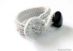 Ravelry: Crochet Bracelet With Button by Beauty Crochet Pattern