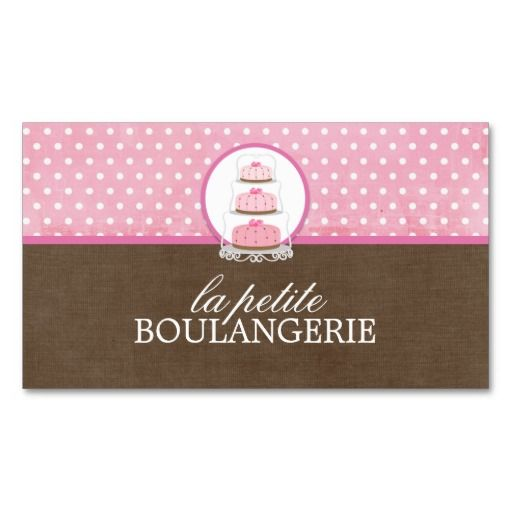 Bakery Business Cards Ideas Cake