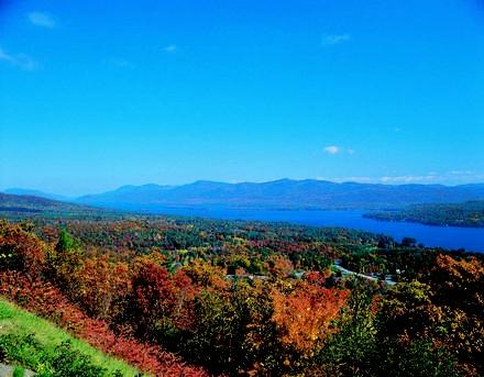 Lake George in the fall.