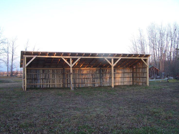 48' x 12' Horse shelter