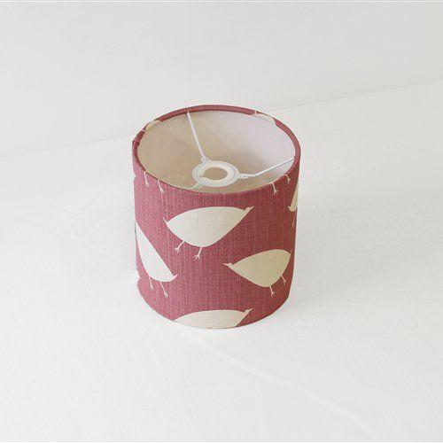 Bird Hop - Mallow Drum Lampshade -  Size: 20x20cm