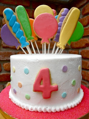 Oh Sugar Events: Balloon Birthday Cake http://ohsugareventplanning.blogspot.com/2012/06/balloon-birthday-cake.html