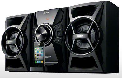 Sony Mini Hi-Fi Stereo System with dock.