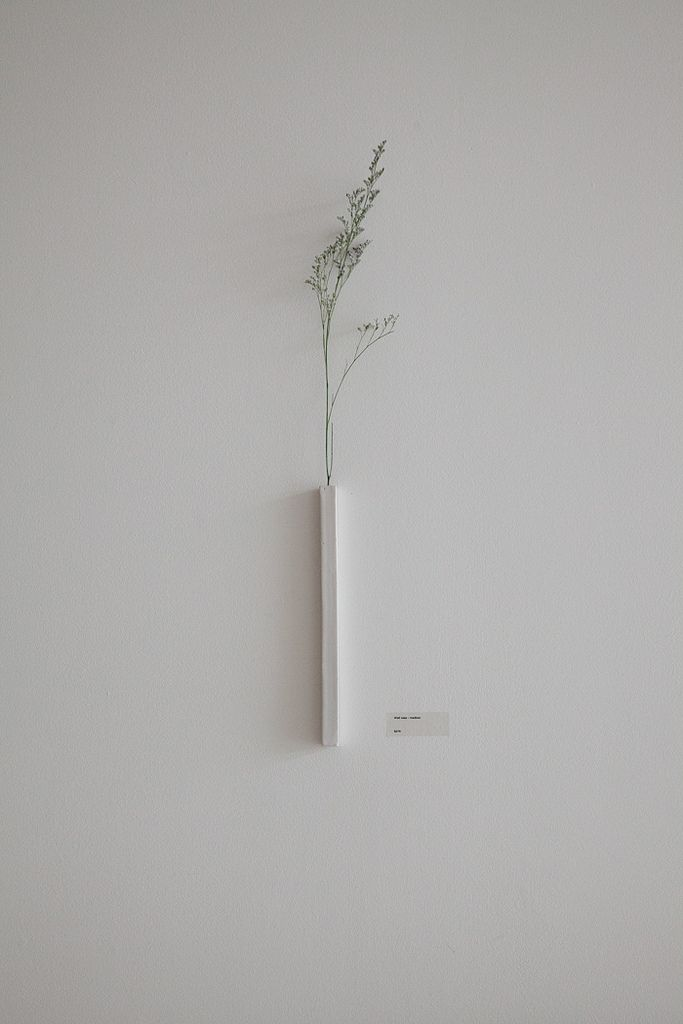 Single stem ceramic wall vase | by Ando Masanobu