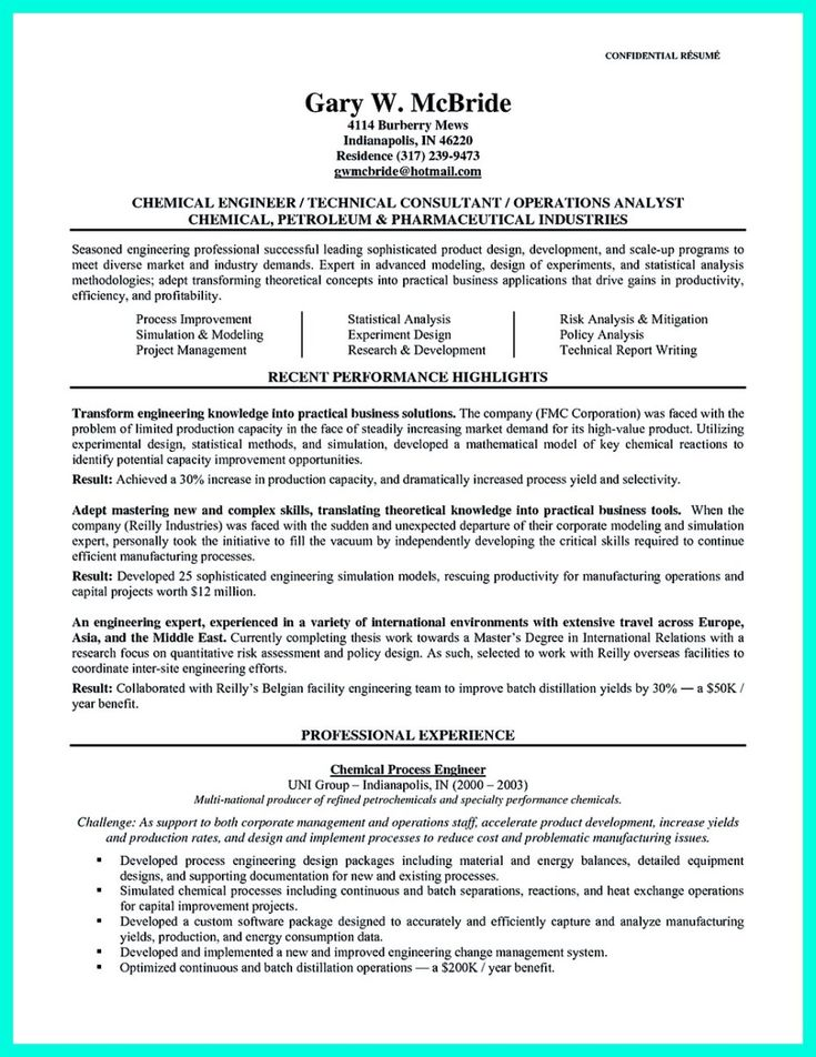 Nice Successful Objectives In Chemical Engineering Resume, Check More At  Http://snefci  Chemical Engineering Resume