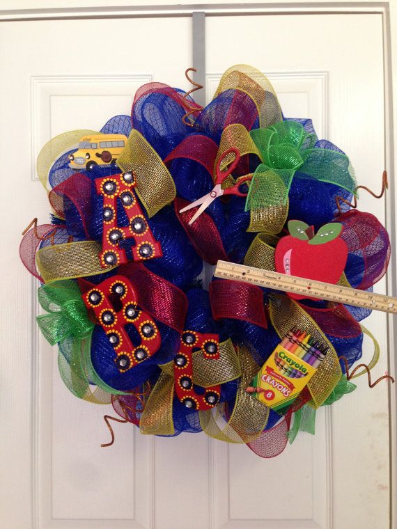 Teacher+Door+Wreath+by+JustADreamXOX+on+Etsy,+$57.00