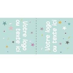 Étiquettes en tissu à coudre personnalisées à plier en deux ! Elles existent dans le format de votre choix ! | Corailindigo 100% Made in France