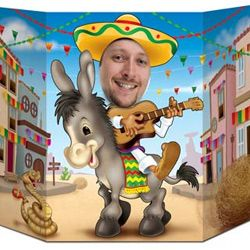 BE57977 - Fiesta Donkey Photo Prop Photo Prop Fiesta Donkey (94cm x 64cm) Cardboard (Not suitable for Express Post due to size of product). Please note: approx. 14 days delivery.