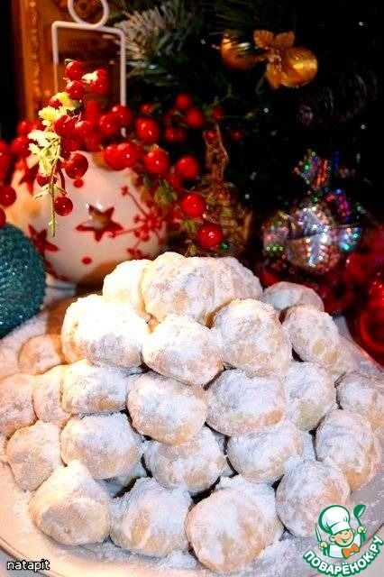 """Рождественское миндальное печенье """"Курабьедес"""" - кулинарный рецепт"""