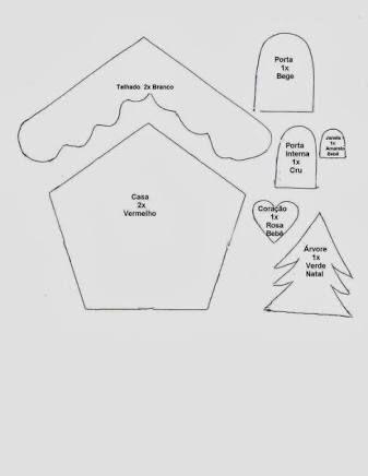 Resultado de imagen para casinha de natal em feltro