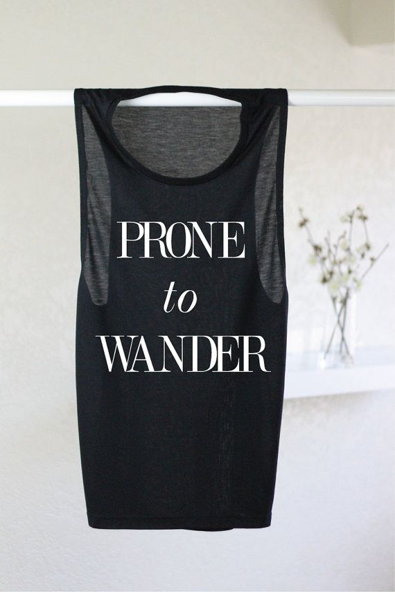 Prone To Wander Tank - Boho Tank - Hippie Tank - Yoga Tank - Yoga Top - Graphic Tee- Graphic Tees For Women - Womens Graphic Tee -Wanderlust