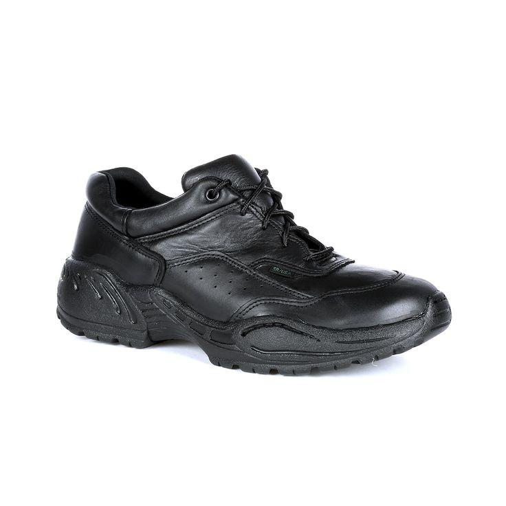 Rocky Postal Men's Oxford Water Resistant Utility Shoes, Size: medium (10.5), Black