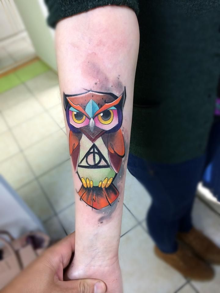 Harry potter owl tattoo