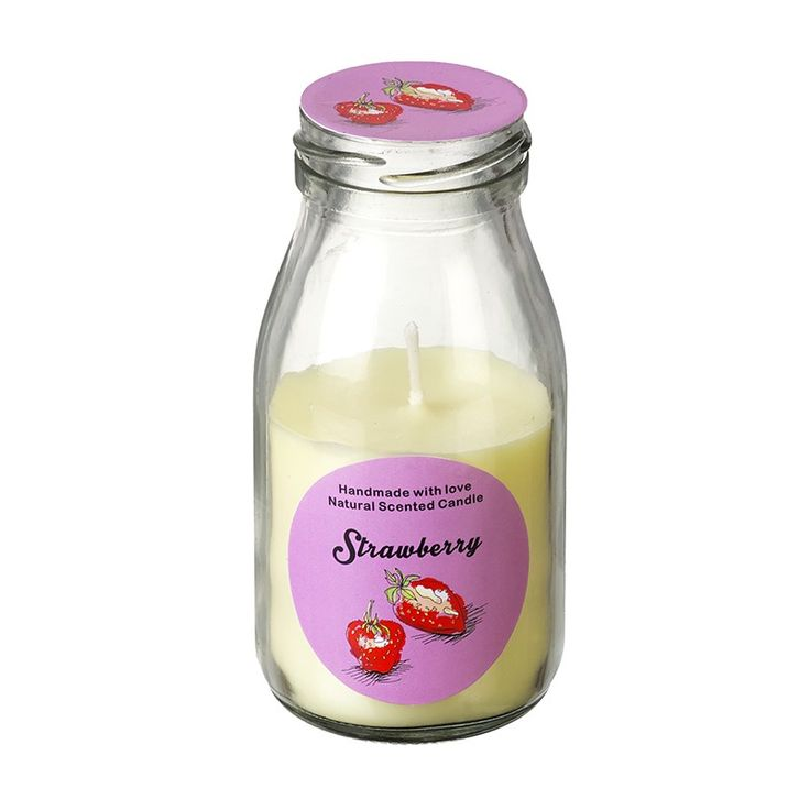 Homeware :: Candles :: Strawberry Scented Candle In Bottle #candle