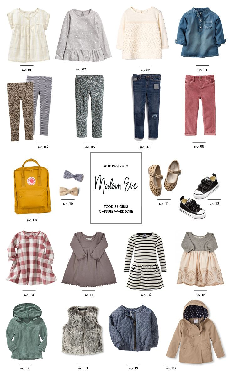 Toddler Capsule Wardrobe: Back to School for Fall - Modern Eve