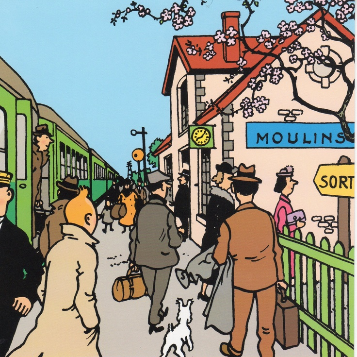 The Seven Crystal Balls - Tintin on Moulinsart station