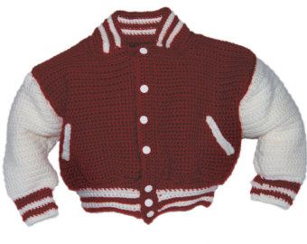 Baseball Jacket Crochet Pattern Baby Boy by pattydavisdesigns