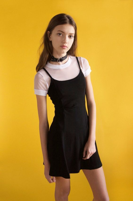 Black dress 90s punk