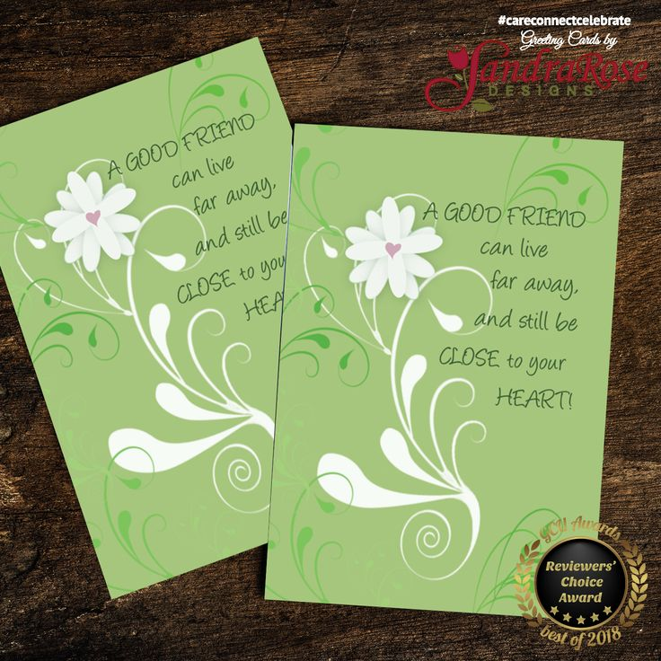 A beautiful green and white card with a flower to say hi