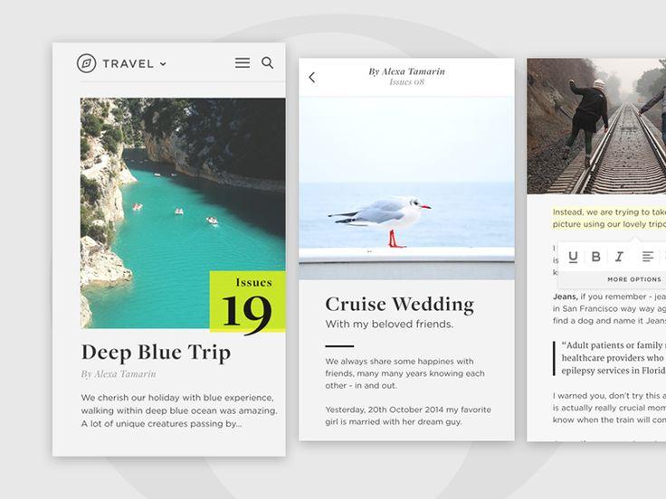 Slow Magazine App by Budi Tanrim