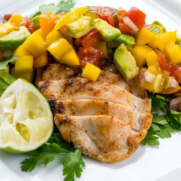 THIS Spicy, Sweet Salsa on top of grilled chicken, salmon, halibut, shrimp...all Summer long!🌞 Ingredients: 3 ripe mangos, diced 1 medium red bell pepper, diced small 1/2 cup small diced red onion 1/4 cup packed fresh cilantro leaves, diced 1 jalapeño, seeded and minced 2 fresh limes, juiced...