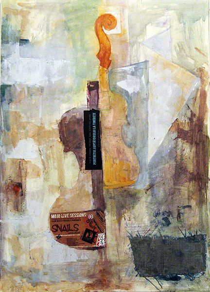 Original abstract painting with violin.   Art   Pinterest