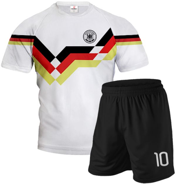 GERMANY 1990 Football Kit With Shorts With Custom Name and Number