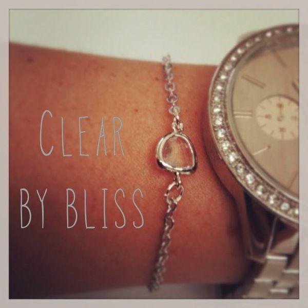 """ARMBAND """" CLEAR """" silber o. gold Stein Armkettchen von BLISS - dein stück vom glück auf DaWanda.com"""