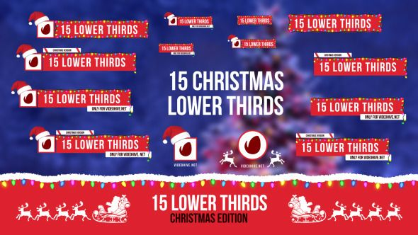Christmas Lower Thirds Lower Thirds Lower After Effects Templates