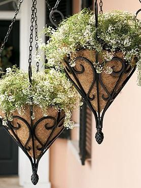 Bring classic style and beautiful foliage to your outdoor space with the Antique Hanging Planter with Coco Liner.Gardens Ideas, Planters Gardens, Antiques Hanging, Coco Liner, Gardens Planters, Outdoor Decor, Gardens Art, Hanging Planters, Outdoor Planters