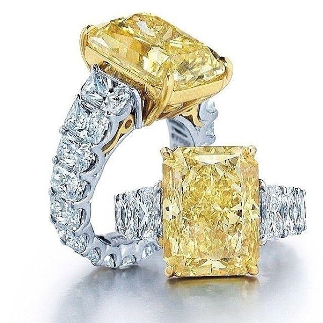 gorgeous yellow and white diamond rings                                                                                                                                                     More