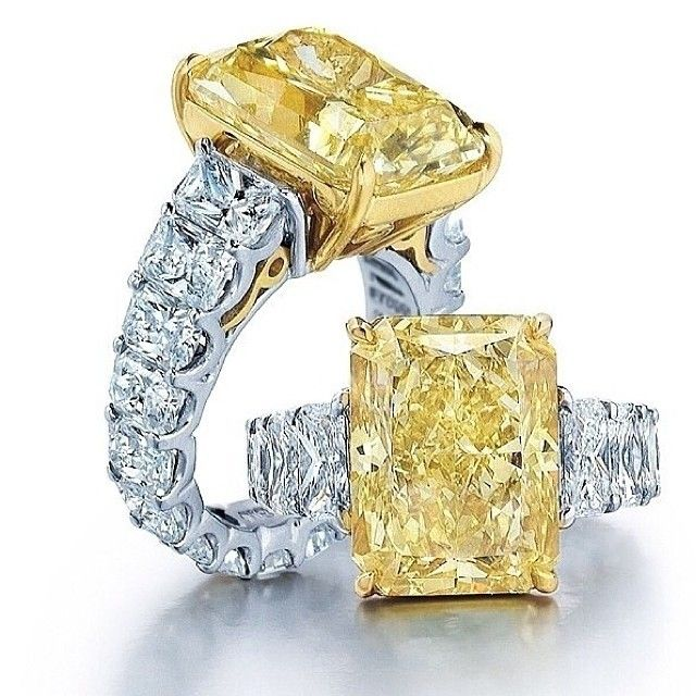 gorgeous yellow and white diamond rings                                                                                                                                                     More