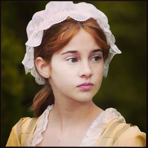 Shailene Woodley (Divergent) played Felicity from the American Girl doll movie!! What?!