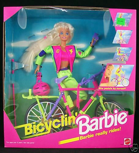 Bicylin' Barbie lol - I had this