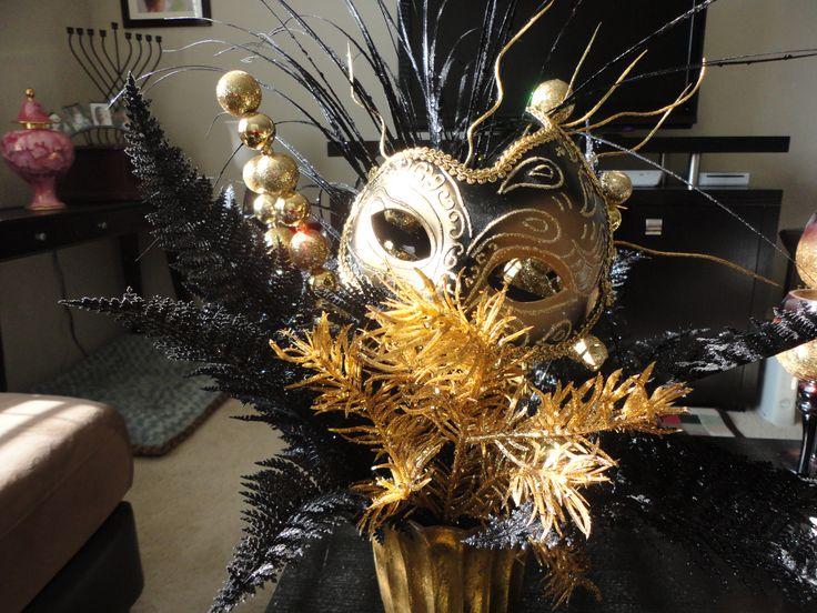 Centerpiece I made for Kailys Masquerade Ball.