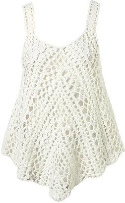 Crochet Vest - Topshop Pretty Chevron tank top