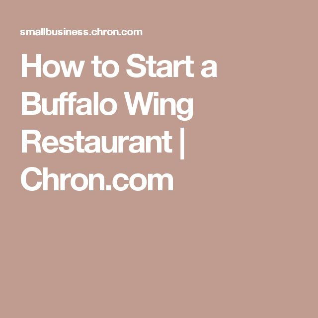 How to Start a Buffalo Wing Restaurant | Chron.com